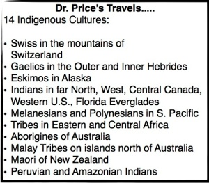 Dr. Price's Travels