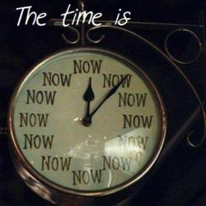 The Time Is Now Clock