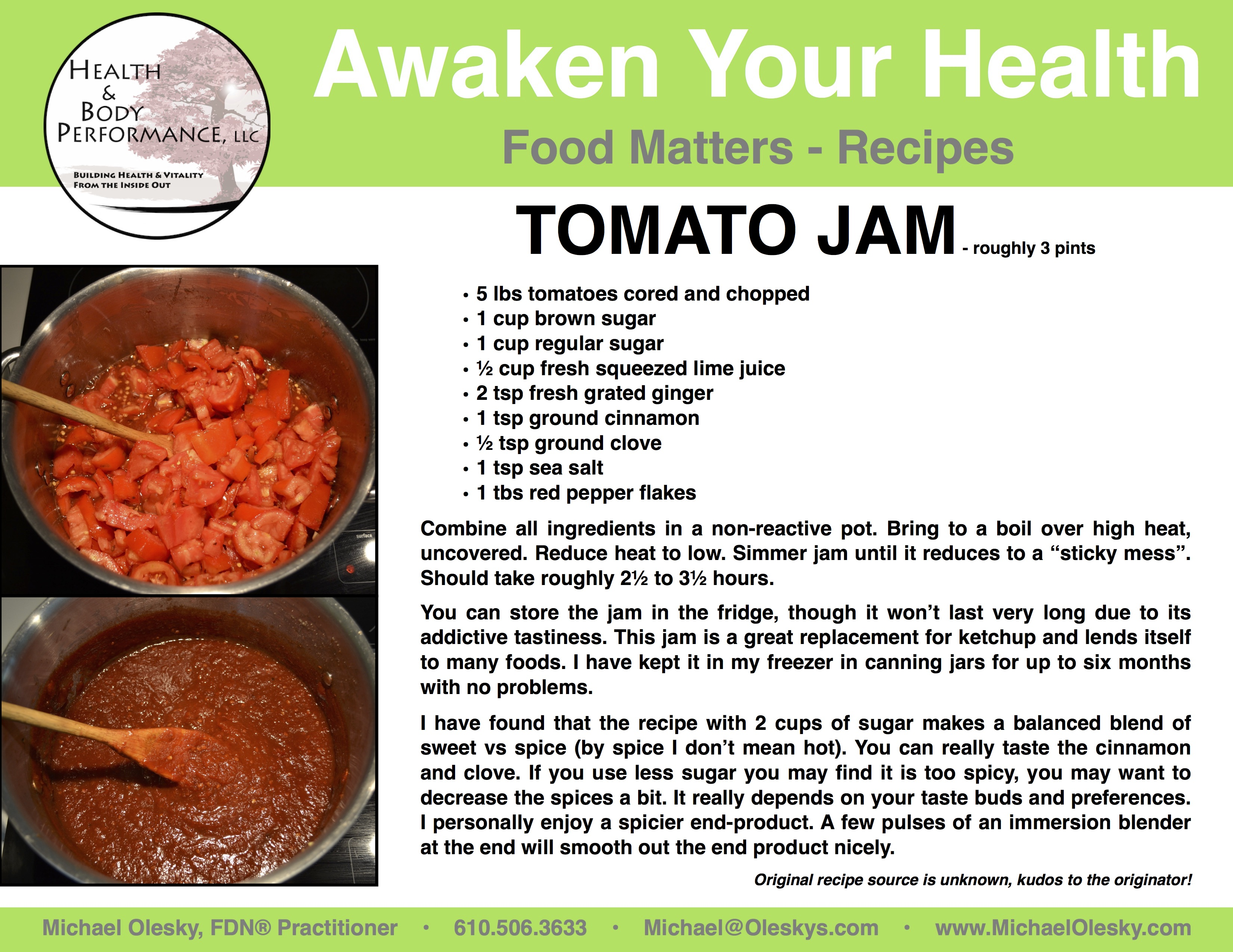 Food matters tomato jam recipe awaken your health i have to offer this easy tasty and addictive recipe for tomato jam forumfinder Gallery